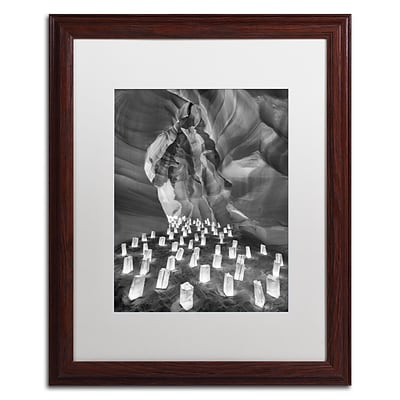 Trademark Fine Art Candle Canyon II by Moises Levy 16 x 20 White Matted Wood Frame (ALI1128-W1620MF)