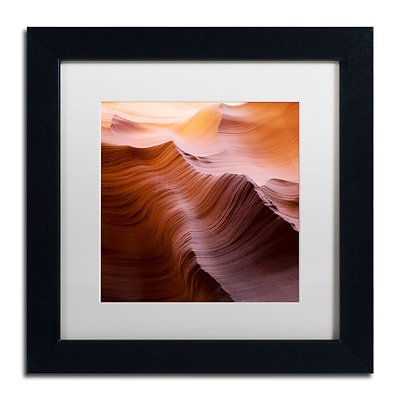 Trademark Fine Art Smooth I by Moises Levy 11 x 11 White Matted Black Frame (ALI1136-B1111MF)