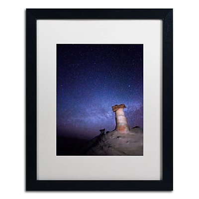 Trademark Fine Art Starry Night in Arizona I by Moises Levy 16 x 20 White Matted Black Frame (ALI1138-B1620MF)