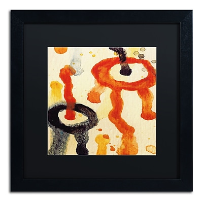Trademark Fine Art Circle Encounters 6 by Amy Vangsgard  16 x 16 Black Matted Black Frame (AV0096-B1616BMF)