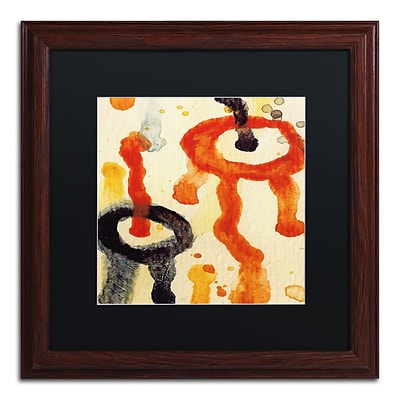 Trademark Fine Art Circle Encounters 6 by Amy Vangsgard  16 x 16 Black Matted Wood Frame (AV0096-W1616BMF)