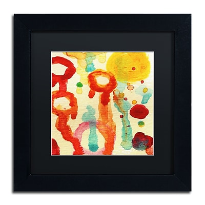 Trademark Fine Art Circle Encounters 7 by Amy Vangsgard 11 x 11 Black Matted Black Frame (AV0097-B1111BMF)