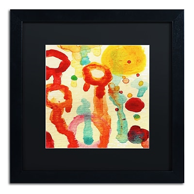 Trademark Fine Art Circle Encounters 7 by Amy Vangsgard 16 x 16 Black Matted Black Frame (AV0097-B1616BMF)