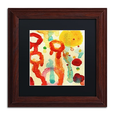 Trademark Fine Art Circle Encounters 7 by Amy Vangsgard  11 x 11 Black Matted Wood Frame (AV0097-W1111BMF)