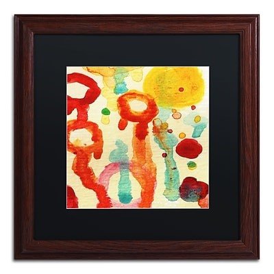 Trademark Fine Art Circle Encounters 7 by Amy Vangsgard  16 x 16 Black Matted Wood Frame (AV0097-W1616BMF)