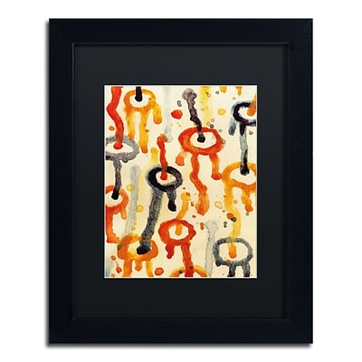 Trademark Fine Art Circle Encounters 9 by Amy Vangsgard  11 x 14 Black Matted Black Frame (AV0099-B1114BMF)