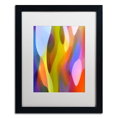 Trademark Fine Art Dappled Light 3 by Amy Vangsgard  16 x 20 White Matted Black Frame (AV0101-B1620MF)