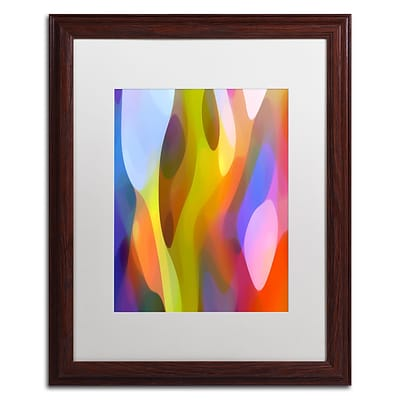 Trademark Fine Art Dappled Light 3 by Amy Vangsgard 16 x 20 White Matted Wood Frame (AV0101-W1620MF)