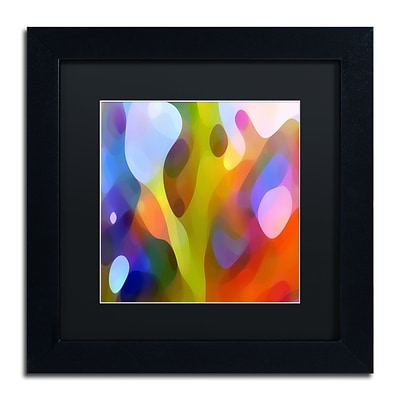 Trademark Fine Art Dappled Light 15 by Amy Vangsgard  11 x 11 Black Matted Black Frame (AV0109-B1111BMF)