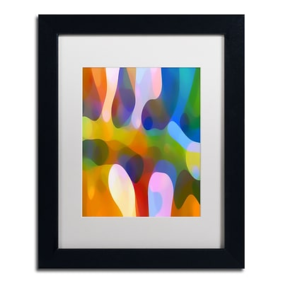 Trademark Fine Art Dappled Light Palm 2 by Amy Vangsgard  11 x 14 White Matted Black Frame (AV0111-B1114MF)