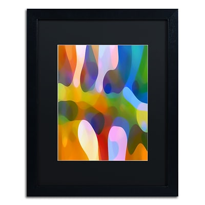 Trademark Fine Art Dappled Light Palm 2 by Amy Vangsgard  16 x 20 Black Matted Black Frame (AV0111-B1620BMF)