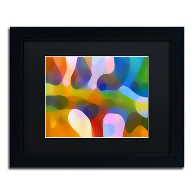 Trademark Fine Art Dappled Light Palm 4 by Amy Vangsgard  11 x 14 Black Matted Black Frame (AV0113-B1114BMF)