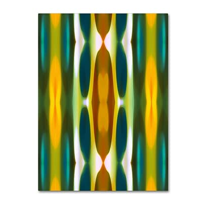 Trademark Fine Art Blue Green Yellow Pattern 14 by Amy Vangsgard  18 x 24 Canvas Art (AV0119-C1824GG)