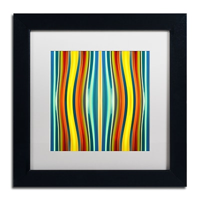 Trademark Fine Art Fury Pattern 1 by Amy Vangsgard  11 x 11 White Matted Black Frame (AV0126-B1111MF)