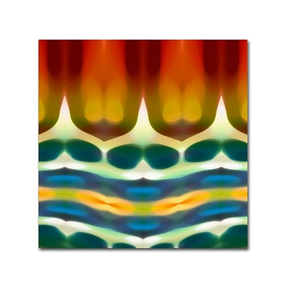 Trademark Fine Art Fury Pattern 7 by Amy Vangsgard 35 x 35 Canvas Art (AV0131-C3535GG)