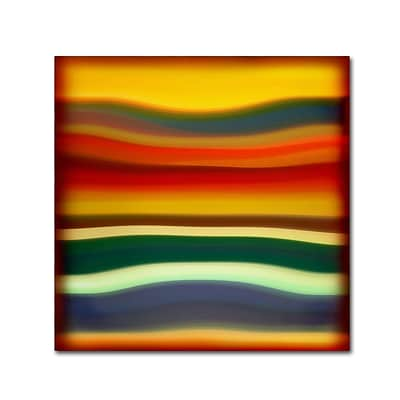 Trademark Fine Art Fury Sea 2 by Amy Vangsgard  14 x 14 Canvas Art (AV0133-C1414GG)