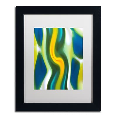 Trademark Fine Art Fury Stream 4 by Amy Vangsgard  11 x 14 White Matted Black Frame (AV0139-B1114MF)