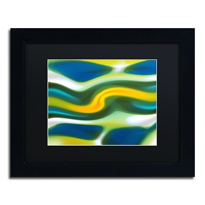 Trademark Fine Art Fury Stream 6 by Amy Vangsgard  11 x 14 Black Matted Black Frame (AV0141-B1114BMF)