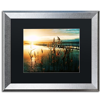 Trademark Fine Art Wish You Were Here by Beata Czyzowska Young 16 x 20 Black Matted Silver Frame (BC0060-S1620BMF)