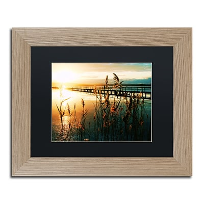 Trademark Fine Art Wish You Were Here by Beata Czyzowska Young 11 x 14 Black Matted Wood Frame (BC0060-T1114BMF)