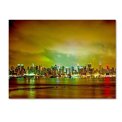 Trademark Fine Art City Skyline by Preston 14 x 19 Canvas Art (EM0508-C1419GG)