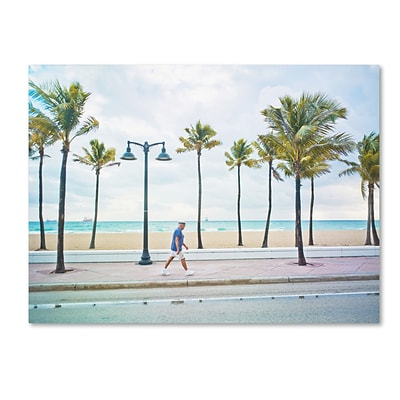 Trademark Fine Art Florida Beach Walk by Preston 14 x 19 Canvas Art (EM0523-C1419GG)