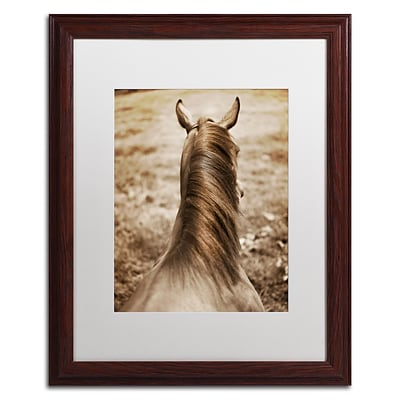 Trademark Fine Art Kentucky Horsemane by Preston 16 x 20 White Matted Wood Frame (EM0538-W1620MF)