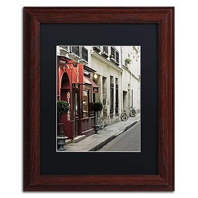 Trademark Fine Art Parisian Antiques by Preston 11 x 14 Black Matted Wood Frame (EM0554-W1114BMF)