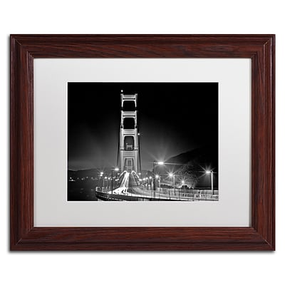 Trademark Fine Art San Francisco by Preston 11 x 14 White Matted Wood Frame (EM0565-W1114MF)