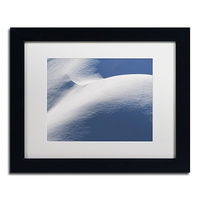 Trademark Fine Art Abstract Snow Mound 3 by Kurt Shaffer 11 x 14 White Matted Black Frame (KS01082-B1114MF)