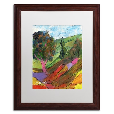 Trademark Fine Art Untouched Hillside by Manor Shadian 16 x 20 White Matted Wood Frame (MA0610-W1620MF)