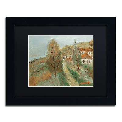 Trademark Fine Art Last Days of Fall by Manor Shadian 11 x 14 Black Matted Black Frame (MA0615-B1114BMF)