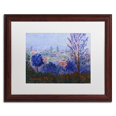 Trademark Fine Art Mystic Town by Manor Shadian 16 x 20 White Matted Wood Frame (MA0616-W1620MF)