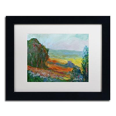 Trademark Fine Art Fall Fields by Manor Shadian 11 x 14 White Matted Black Frame (MA0617-B1114MF)