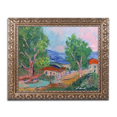 Trademark Fine Art Tree Valley by Manor Shadian 11 x 14 Ornate Frame (MA0618-G1114F)