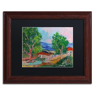 Trademark Fine Art Tree Valley by Manor Shadian 11 x 14 Black Matted Wood Frame (MA0618-W1114BMF)