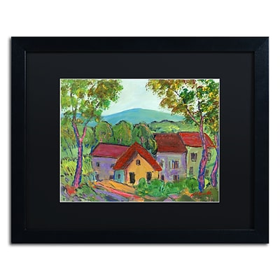 Trademark Fine Art Rainbow Home by Manor Shadian 16 x 20 Black Matted Black Frame (MA0621-B1620BMF)