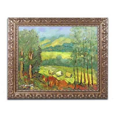 Trademark Fine Art Balds in the Field by Manor Shadian 11 x 14 Ornate Frame (MA0622-G1114F)