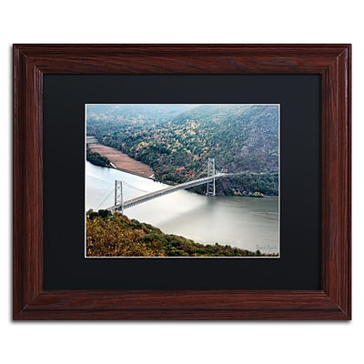 Trademark Fine Art Beer Mountain Bridge by David Ayash 11 x 14 Black Matted Wood Frame (MA0627-W1114BMF)