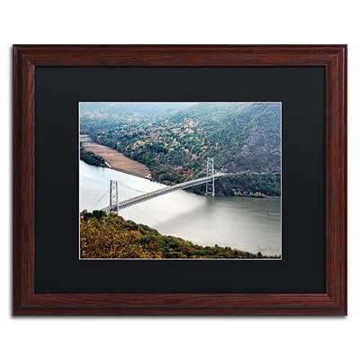 Trademark Fine Art Beer Mountain Bridge by David Ayash 16 x 20 Black Matted Wood Frame (MA0627-W1620BMF)