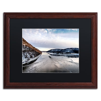 Trademark Fine Art Hudson Valley by David Ayash 16 x 20 Black Matted Wood Frame (MA0637-W1620BMF)
