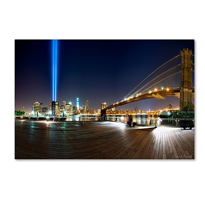 Trademark Fine Art Never Forget by David Ayash 12 x 19 Canvas Art (MA0639-C1219GG)