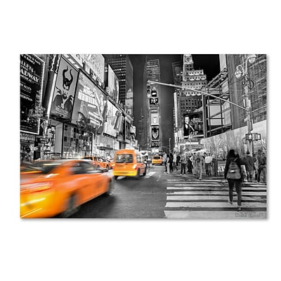 Trademark Fine Art Times Square by David Ayash 12 x 19 Canvas Art (MA0643-C1219GG)