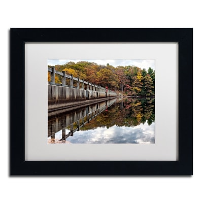 Trademark Fine Art New York in Fall by David Ayash 11 x 14 White Matted Black Frame (MA0644-B1114MF)