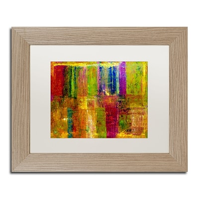 Trademark Fine Art Color Abstract by Michelle Calkins 11 x 14 White Matted Wood Frame (MC017-T1114MF)