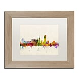 Trademark Fine Art San Francisco CA by Michael Tompsett 11 x 14 White Matted Wood Frame (MT037