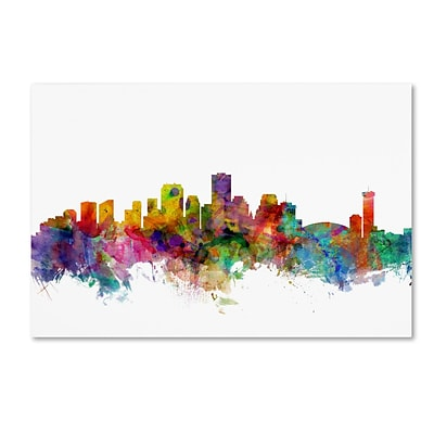 Trademark Fine Art New Orleans Louisiana Skyline by Michael Tompsett 22 x 32 Canvas Art (MT0571-C2232GG)