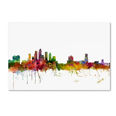 Trademark Fine Art Tampa Florida Skyline by Michael Tompsett 12 x 19 Canvas Art (MT0584-C1219GG)