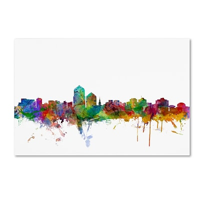 Trademark Fine Art Albuquerque New Mexico Skyline by Michael Tompsett 30 x 47 Canvas Art (MT0592-C3047GG)