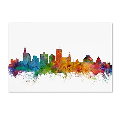 Trademark Fine Art Jackson Mississippi Skyline by Michael Tompsett 16 x 24 Canvas Art (MT0601-C1624GG)